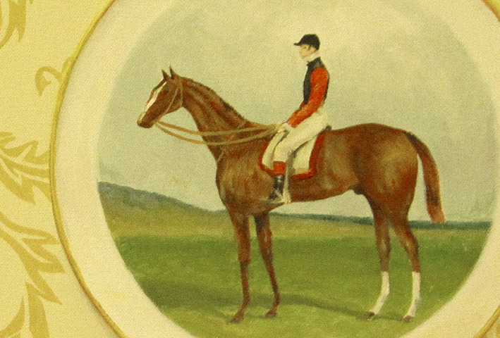 'Collectable plate: Equestrian' detail