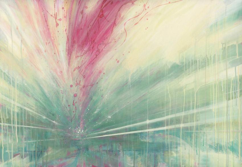 'Accelerated' 2011 (200x90cm) Acrylic & Spraypaint on Canvas