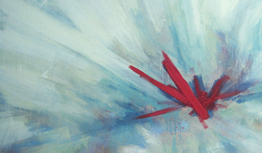 'SuperCollider' 2012 (200x90cm) Acrylic on Canvas