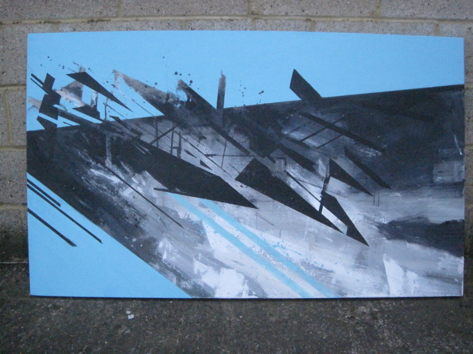 'Deconstucting Shards' 2011 Acrylic on canvas