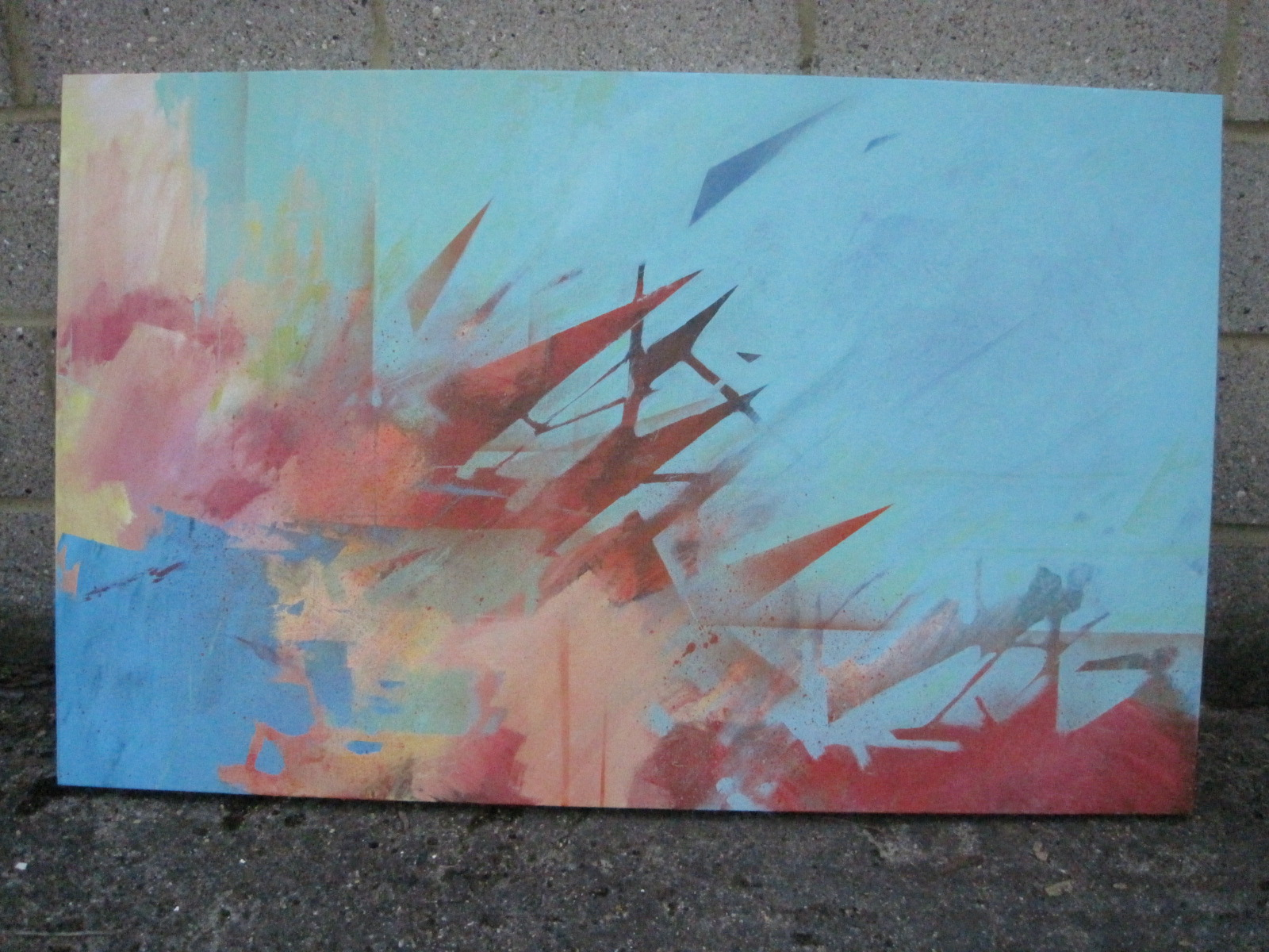 'Extrapolation' 2010 (270x95cm) Mixed Media on Canvas