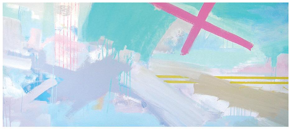 'Connexions' 2006 (260x110cm) Mixed Media on Canvas